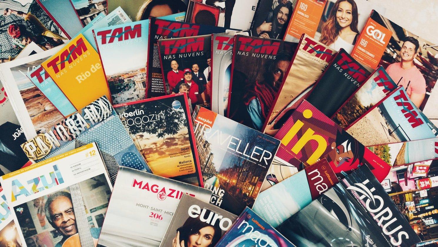 Multiple magazines where PR often occurs